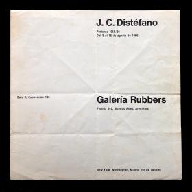 J. C. Distéfano. Pinturas 1965-66. Galería Rubbers, Buenos Aires, del 5 al 18 de agosto de 1966
