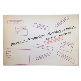 Osvaldo Romberg. Prepictum, Postpictum + Working Drawings. Obras Recientes. Julia Lublin, Buenos Aires, 4-22 de Octubre 1988