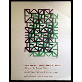 Arte Gráfico Grupo Buenos Aires. Semana de Buenos Aires. Demostraciones públicas de grabado