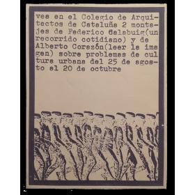 Federico Calabuig (Un recorrido cotidiano) y Alberto Corazón (Leer la imagen). Colegio de Arquitectos de Cataluña, [1972]