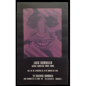 Luis Gordillo. Serie Cabezas 1963-1965. Galería Vandrés, Madrid, del 16 de febrero al 6 de marzo de 1971