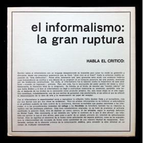El informalismo: la gran ruptura