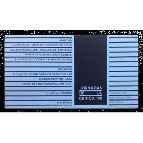 XI Jornadas de la crítica '90. Buenos Aires, Argentina, 11 al 22 de septiembre