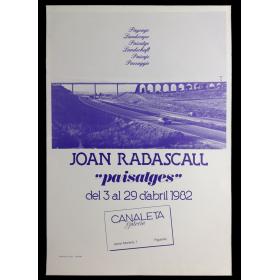 """Joan Rabascall - """"Paisatges"""". Galeria Canaleta, Figueres, del 3 al 29 d'abril 1982"""