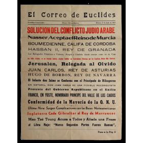 El Correo de Euclides. Periódico Conservador. Número Extraordinario. México, 15 de Julio de 1967