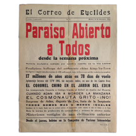 El Correo de Euclides. Periódico Conservador, No. 2. México, 31 de Diciembre de 1962