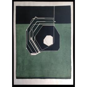 Litografía original Pablo Palazuelo. [Galería Maeght, Barcelona, 1977]