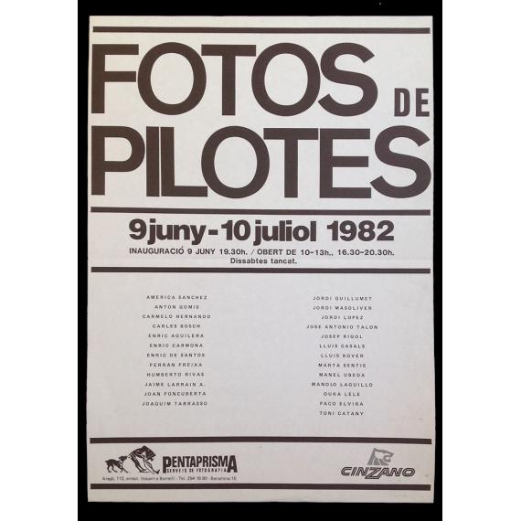 Fotos de pilotes. Pentaprisma, Barcelona, 9 juny - 10 juliol 1982