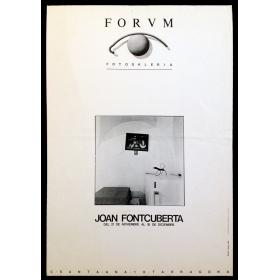 Joan Fontcuberta. Forum Fotogalería, Tarragona, del 21 de noviembre al 18 de diciembre, 1981