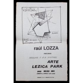 Raúl Lozza - Pinturas. Arte Lezica Park, [Buenos Aires], 19 de diciembre, [1973]
