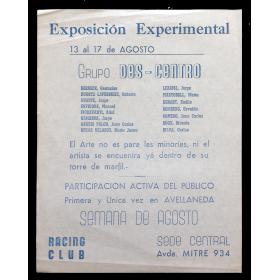 Exposición Experimental - Grupo  Des-Centro. [Buenos Aires], 13 al 17 de Agosto