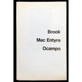 Brook - Mac Entyre - Ocampo. 3 artistas argentinos contemporáneos. La Galería, Buenos Aires, 30 de mayo a 24 de junio de 1978