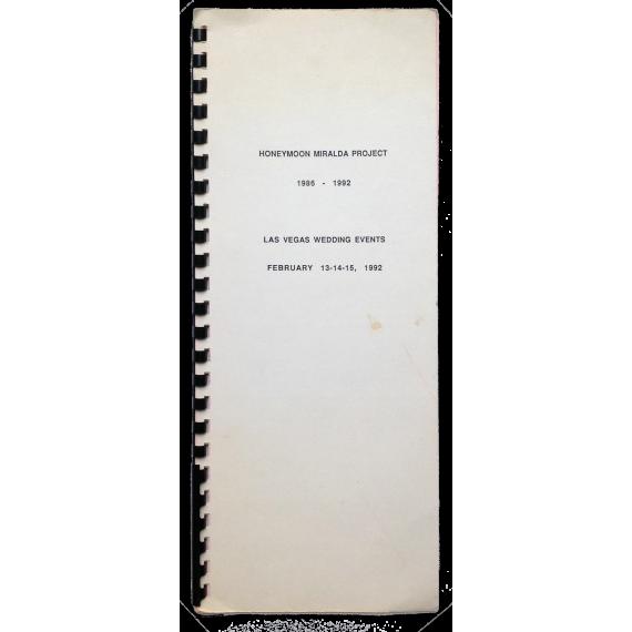 Honeymoon Miralda Project 1986-1992. Las Vegas Wedding Events, February 13-14-15, 1992