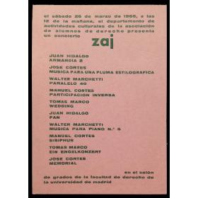 Concierto zaj. Marzo, 1966