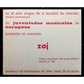 Concierto zaj. Diciembre, 1966