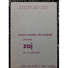 Teatro Estudio de Madrid presenta Zaj en un concierto. Música de acción y teatro musical. Zaj, Madrid 1967