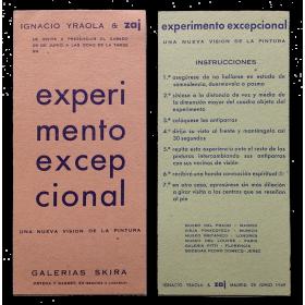 Experimento excepcional. Una nueva visión de la pintura. Ignacio Yraola & Zaj, Madrid, 28 Junio 1969