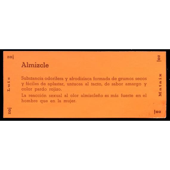 Luis Mataix - Almizcle  Almizclero. Zaj, Marzo 1969