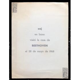 Zaj en Bonn visitó la casa de Beethoven el 28 de mayo de 1968