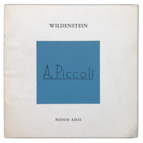 Anselmo Piccoli - Óleos. Wildenstein, Buenos Aires, abril 1982
