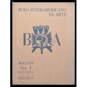 Buró Interamericano de Arte. Boletín No. 1 - Octubre 1951