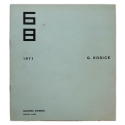 G. Kosice. Galería Bonino, Buenos Aires, del 6 al 31 de Julio 1971