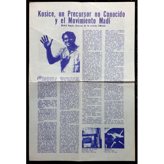 """""""Kosice, un precursor no conocido y el Movimiento Madí"""""""