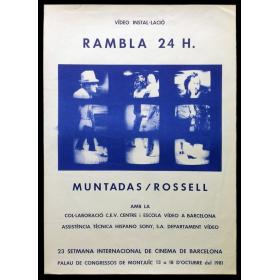 """Vídeo instal·lació """"Rambla 24 h."""" - Muntadas / Rossell"""