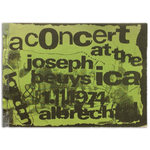 A Concert at the ICA, London, 1. november 1974