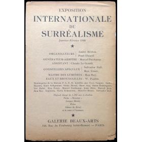 Exposition Internationale du Surréaslime. Galerie Beaux-Arts, Paris, Janvier-Février 1938