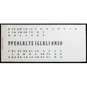 Pellegrino - Portillos. Investigación perceptual. Ronal Lambert Gallery, Buenos Aires, 4 al 15 de julio de 1967