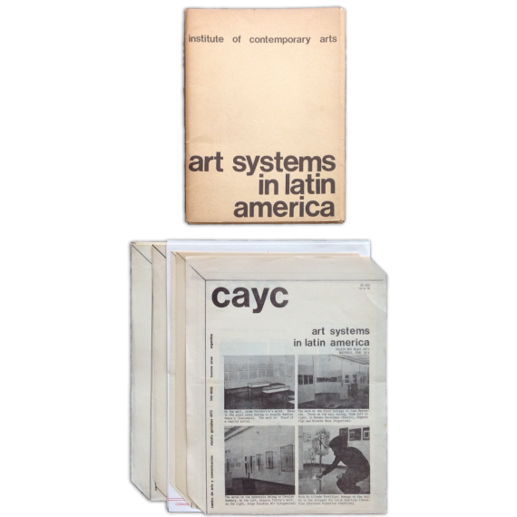Art Systems in Latin America. Institute of Contemporary Arts, London, December 1974
