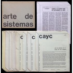Arte de Sistemas. Víctor Grippo, Alberto Pellegrino, Alfredo Portillos. Centro de Arte y Comunicación, Buenos Aires, Julio 1971