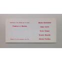 5 artistas en arte de sistemas. Galería Van Riel, noviembre 1972