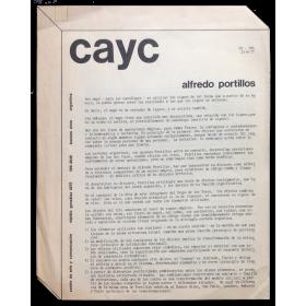 CAyC. Alfredo Portillos. Buenos Aires, 21-9-1977