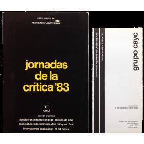 Grupo CAyC. Asociación Argentina de Críticos de Arte - Jornadas de la Crítica '83
