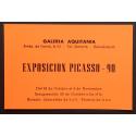 """""""Picasso 90"""". Galería de Arte Aquitania, Barcelona 1971"""