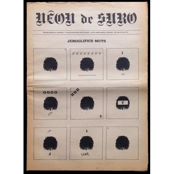 Neon de Suro. Fullet monogràfic de divulgació. Autor: Miquel Barceló i Artigues, Jeroglifics muts. 1976