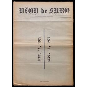 Neon de Suro. Fullet monogràfic de divulgació. Autor: [Antoni] Muntadas. 11 - Setembre 1978