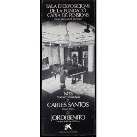 """""""Nits"""". Concert-instal·lació Carles Santos - Jordi Benito. Barcelona, 9 de gener de 1985"""