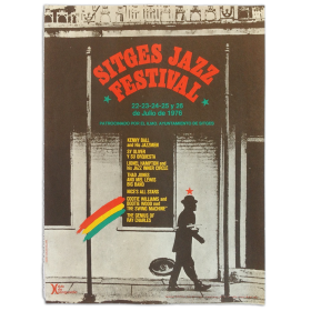 Sitges Jazz Festival. 22-23-24-25 y 26 de Julio de 1976. Patrocinado por el Ayuntamiento de Sitges