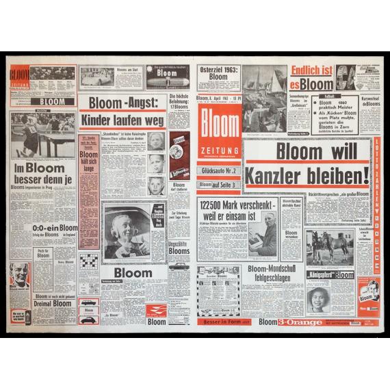 Bloom Zeitung. Galerie Dorothea Loehr, Frankfurt, 1963