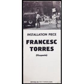 Francesc Torres - Installation Piece (Hiszpania). Galeria Akumulatory 2, Poznan, I-1976