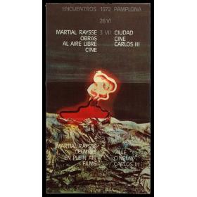 Martial Raysse - Obras al aire libre. Cine. Encuentros Pamplona, Ciudad, Cine Carlos III, 26 VI - 3 VII, 1972