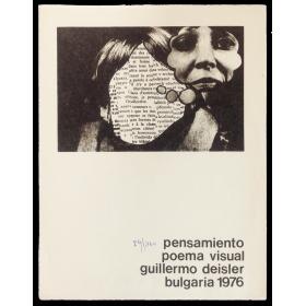 """Pensamiento"" - Poema visual Guillermo Deisler, Bulgaria 1976"