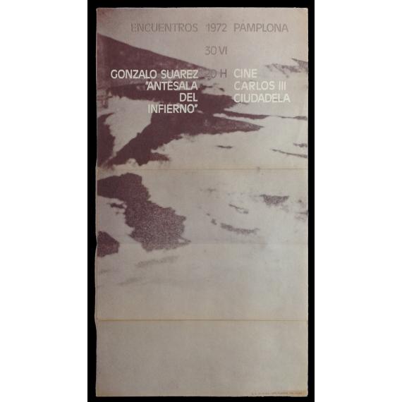 """Gonzalo Suárez - """"Antesala del infierno"""". Encuentros Pamplona, Cine Carlos III, Ciudadela, 30-VI, 1972"""