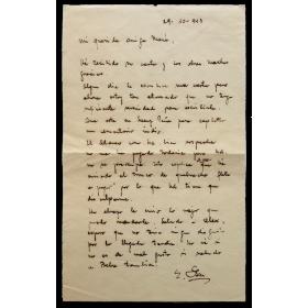 Carta manuscrita - Grete Stern