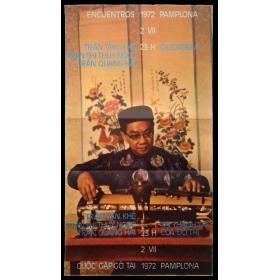 Trân Van Khê, Trân Thi Thuy Ngoc, Trân Quang Hai. Encuentros Pamplona, Ciudadela, 2-VII, 1972