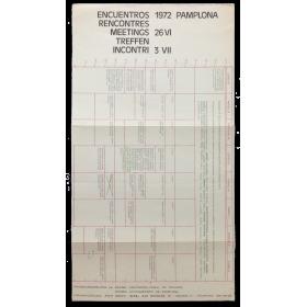 Encuentros - Rencontres - Meetings - Treffen - Incontri. Pamplona, 26 VI - 3 VII, 1972