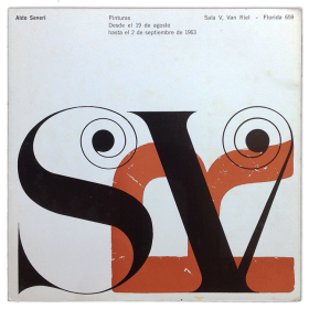 Aldo Severi - Pinturas de mi tierra 1962-63. Sala V. Van Riel, [Buenos Aires], 19 agosto - 2 septiembre 1963
